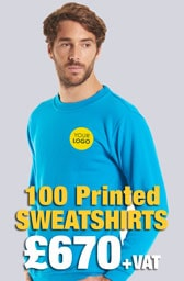 100 Printed UC203 Classic Sweatshirts Deal