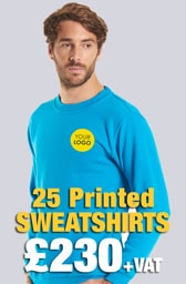 25 Printed UC203 Classic Sweatshirts Deal