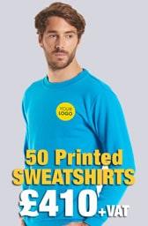 50 Printed UC203 Classic Sweatshirts Deal
